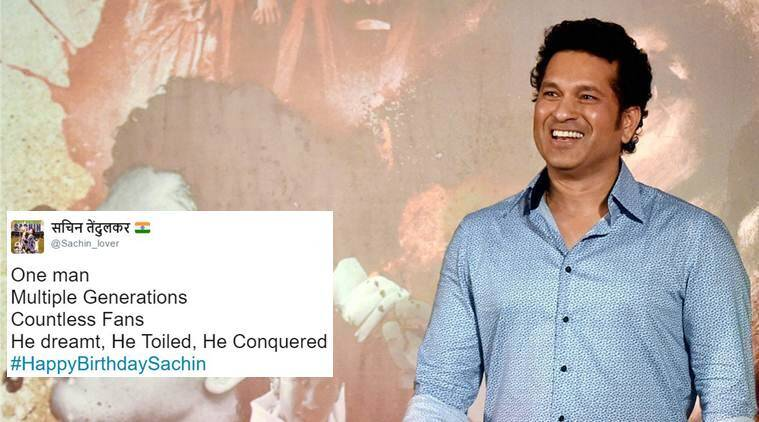 #happybirthdaysachin, #HappyBirthdaySachin, Sachin turns 44, sachin tendulkar 44th birthday, sachin tendulkar master blaster 44th birthday, sachin birthday wishes twitter, sachin tendulkar birthday wishes twitter reactions