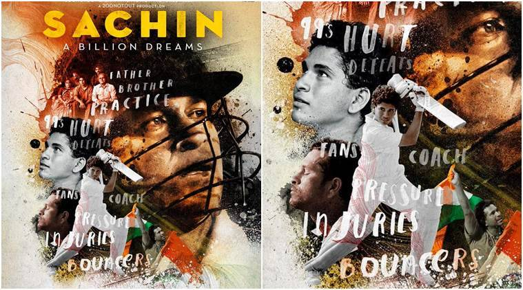 Sachin Tendulkar, Sachin Tendulkar biopic, Sachin A billion dreams movie, Sachin A billion dreams movie poster,