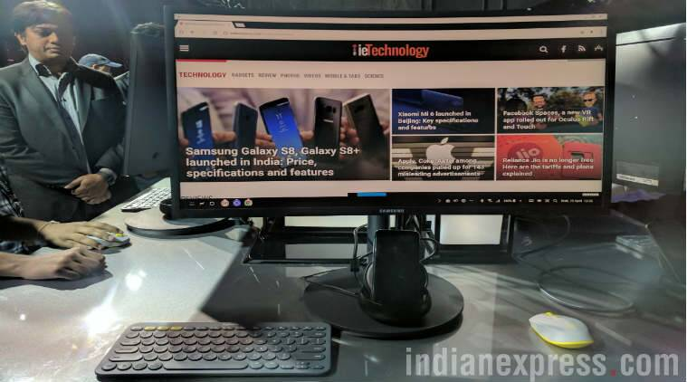Samsung, Samsung DeX, Samsung DeX station, Galaxy S8 DeX, DeX dock, DeX Station, DeX apps, DeX desktop experience, desktop DeX, Microsoft office, DeX desktop dock, DeX desktop price in India, technology, technology news