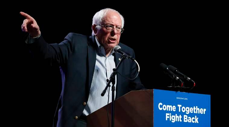 Bernie Sanders, Sanders Democratic party, Democratic party youth, Sanders promotes young leaders, Donald Trump, Trump Sanders, World news, Indian Express