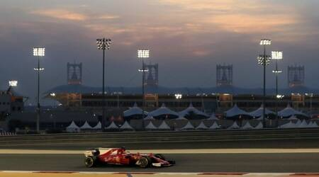 Sebastian Vettel, Sebastian Vettel races, Sebastian Vettel news, Bahrain Grand Prix, Red Bull, Daniel Ricciardo, Valtteri Bottas, Hamilton, sports new,s sports, Indian Express