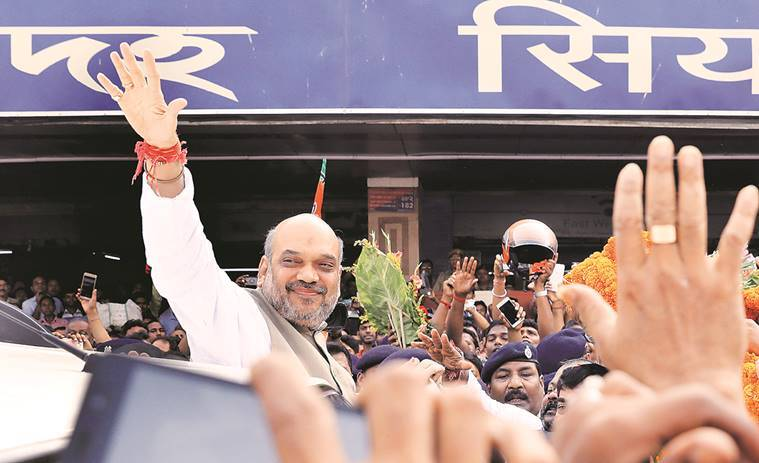 amit shah, bjp, slogan, ebaar bangla, bjp president, bjp chief, west bengal, trinamool congress, tmc, left, mamata banerjee, bjp slogan, india news, indian express news