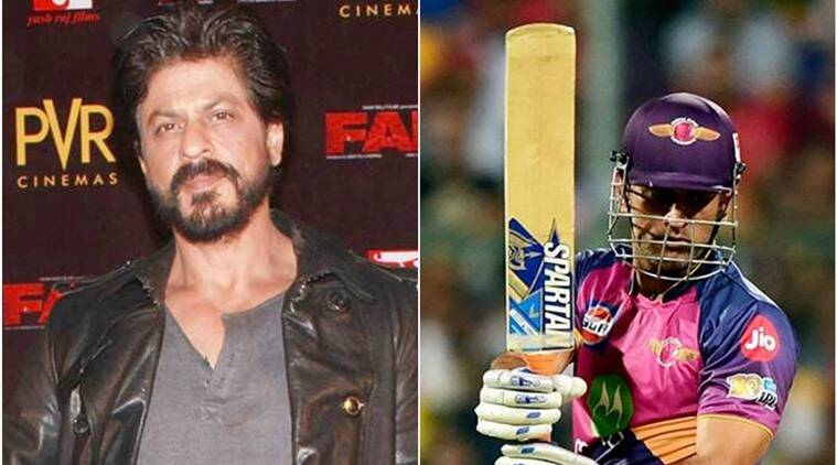 ipl 2017, ms dhoni, shah rukh khan, rps, rising pune supergiant, kkr, kolkata knight riders, dhoni rps, dhoni kkr, cricket news, cricket, sports news, indian express