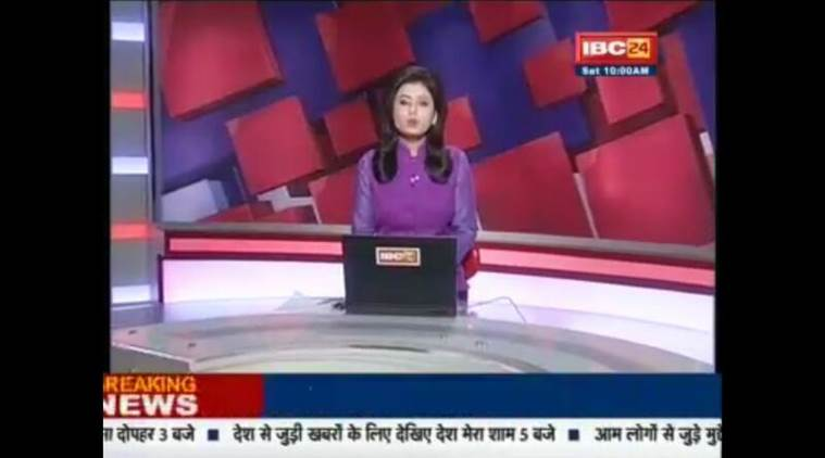 India news presenter learns of husband's death on live TV
