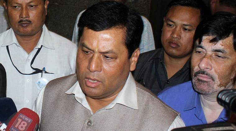 Sarbananda Sonowal, assam rain, rain, rain assam, assam rain relief, assam rain death, assam heavy rain, indian express news, india news
