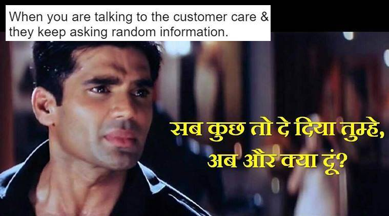 Funny Meme For Thanks : Suniel shetty s dialogue from dhadkan is now a hilarious meme