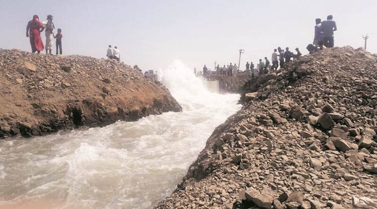 trunk pipeline, narmada water, india news, indian express news