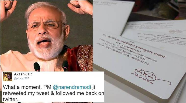 narendra modi, narendra modi twitter, narendra modi follows man on twitter viral, narendra modi swachh bharat abhiyan, narendra modi twitter swachh bharat abhiyan, narendra modi trending, narendra modi twitter viral, indian express, indian express news, indian express trending