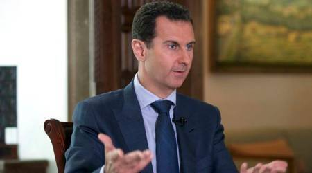 Bashar al-Assad, Assad visit to Russia, Russian Sukhoi SU-35 warplane, Syria war, world news, indian express news