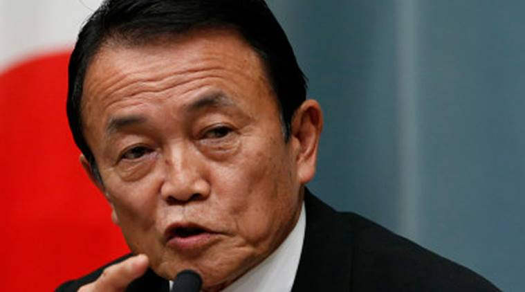 Japan won't resort to 'helicopter money' -Finance Minister Aso class=