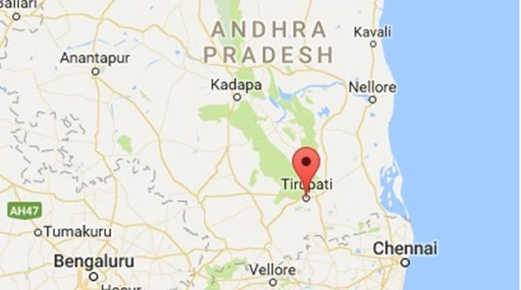 tirupati, tirupati andhra pradesh, ap, tirupati map, andhra pradesh map, india news, indian express