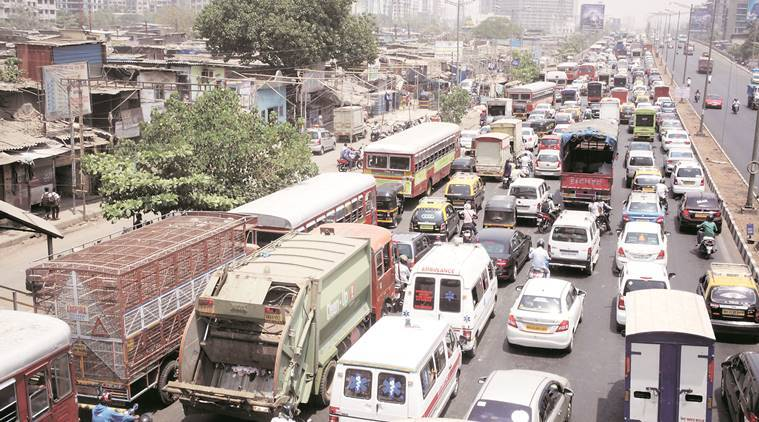 essay on mumbai traffic A traffic intersection in mumbai map, railway lines public transport in mumbai involves the transport of millions of its citizens by train, road and water.