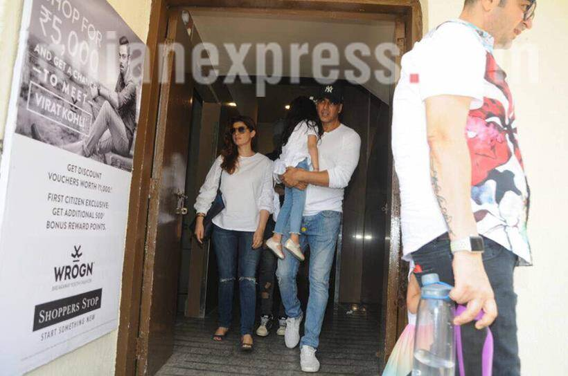 Akshay Kumar's daughter Nitara helps dad shave on her birthday
