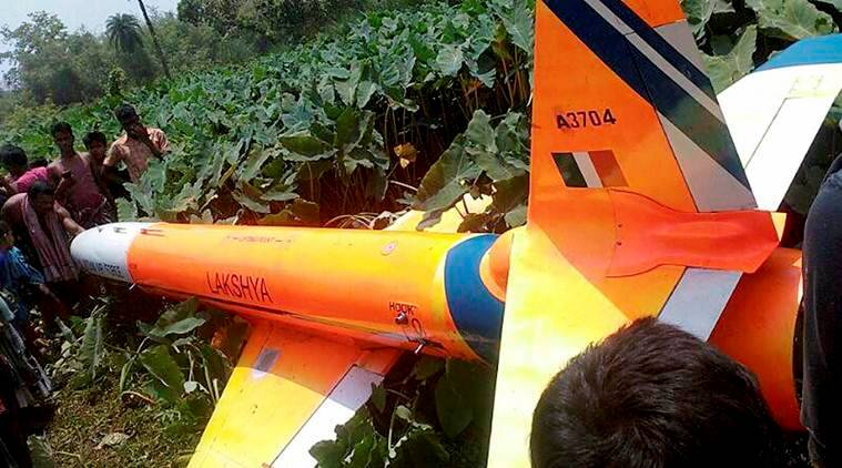 UAV, pilotless target aircraft, PTA, Lakshya, Balasore UAV crash, UAVcrash, odisha news, india news, indian express news