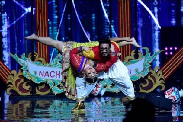 Harsh Limbachyee, bharti singh, Harsh bharti lift nach baliye 8