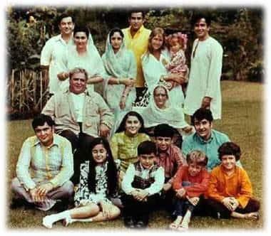 the kapoor family, raj kapoor, rishi kapoor, randhir kapoor