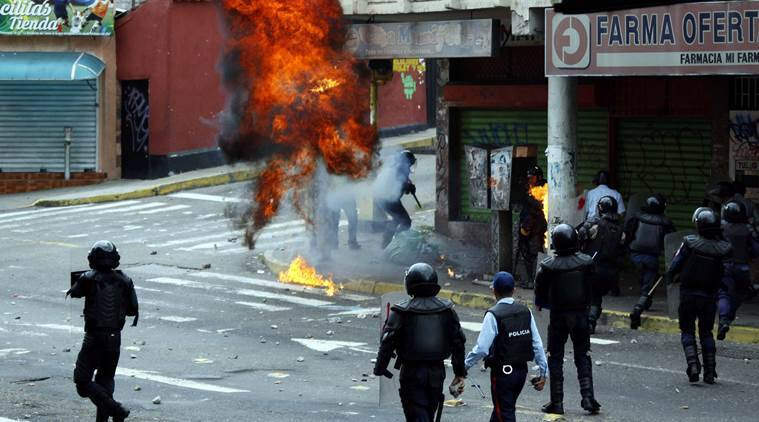 Venezuela, Venezuela protests, Venezuela anti-government demonstrations, Venezuela situation, Venezuela protest deaths, world news, indian express news