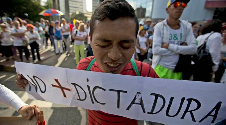 venezuela, venezuela protest, caracas protest, civil unrest venezuela, civil unrest south america, world news, south america news, venezuela protest latest news, indian express