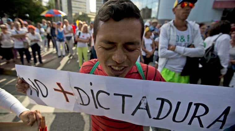 venezuela, venezuela protest, caracas protest, civil unrest venezuela, civil unrest south america, world news, south america news, venezuela protest latest news, indian express