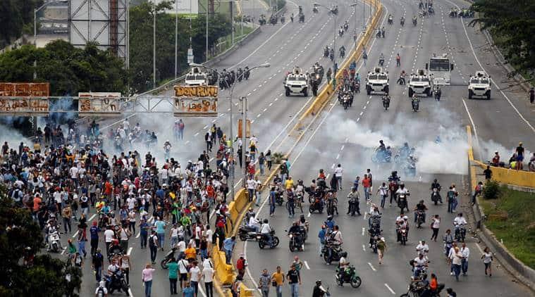 Venezuela, Caracas protests, Venezuela protests,Venezuela dictatorship,Venezuela famine,Nicolas Maduro,Nicolas Maduro dictatorship, Venezuela economy, World news, Indian Express