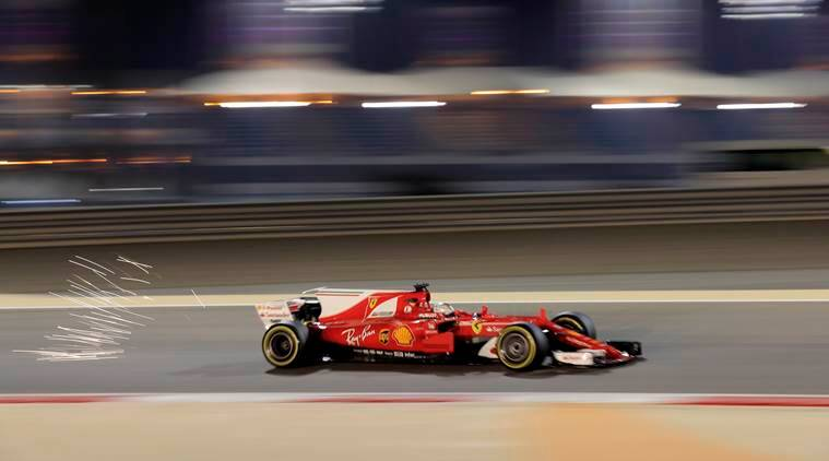 Vettel fastest in 1st session at Bahrain GP; Hamilton 10th