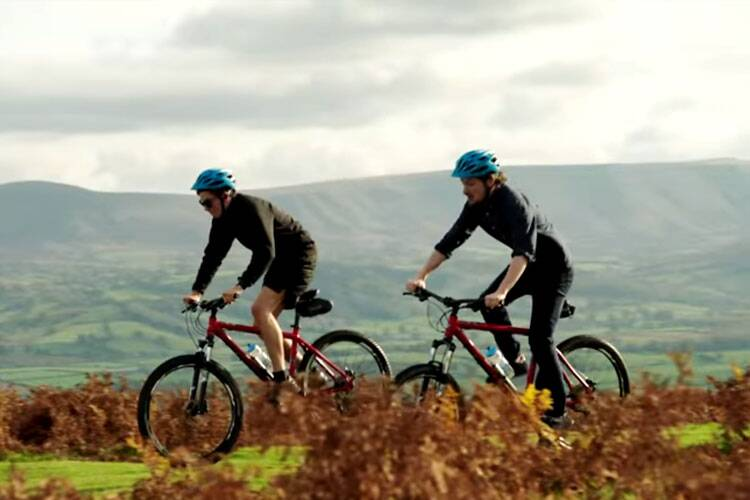 Cycling through the Brecon Beacons in Wales