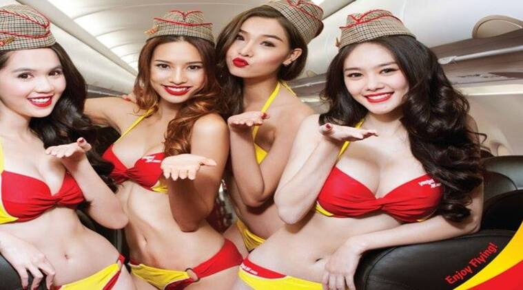 did you know there s an airline with bikini clad flight