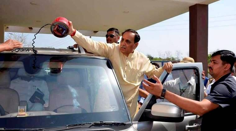 Red beacons, Cabinet decision, Vijay Rupani, Gujarat CM, Gujarat officials, lal batti, india news, indian express news