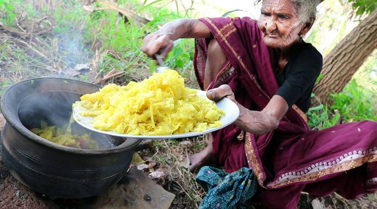 106 year old youtuber, world's oldest youtuber, world's oldest youtuber 106 year old andhra pradesh, country foods youtube, 106 year old from andhra pradesh youtube food videos, youtube cooking videos 106 year old youtuber, youtube 106 year old cooking videos, indian express, indian express news, trending, trending in india, trending news