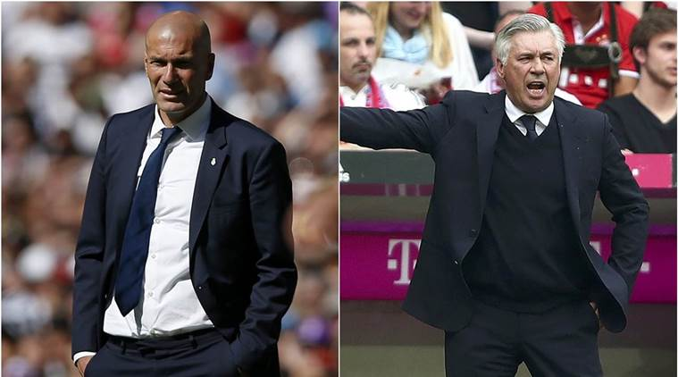 zinedine zidane, carlo ancelotti, zidane, ancelotti, zidane ancelotti, real madrid vs bayern munich, real vs bayern, champions league, champions league real madrid, champions league bayern munich, football news, sports news, indian express