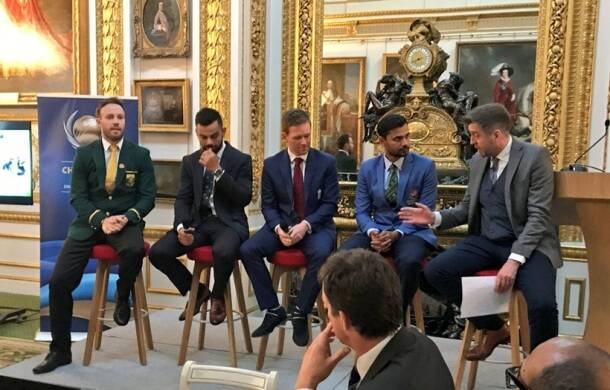 ICC Champions Trophy 2017: Virat Kohli, AB de Villiers attend opening dinner alongside other skippers; see pics
