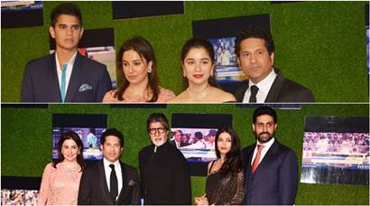 Sachin A Billion Dreams: Amitabh Bachchan with family, Shah Rukh Khan, Aamir Khan queue up to watch Sachin Tendulkar biopic