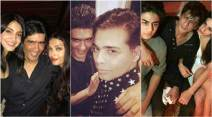 karan johar birthday party, karan johar party inside photos, aishwarya rai, anushka sharma, shah rukh khan, karan johar paty image