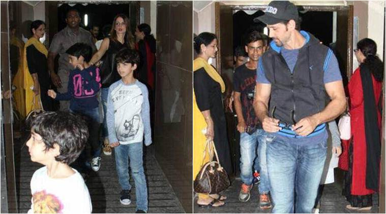 Hrithik Roshan, Sussanne Khan spend family time with sons