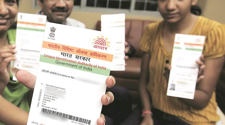 aadhaar card, aadhar in schools, Supreme Court, BJP Government, Aadhar mandatory, registration of schools, HRD, Ministry of Human Resource and Development, India News, Indian Express, Delhi News