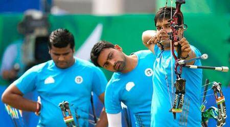 india men archery, archery world cup, india gold compound archery world cup, india archers, archery news, sports news, indian express