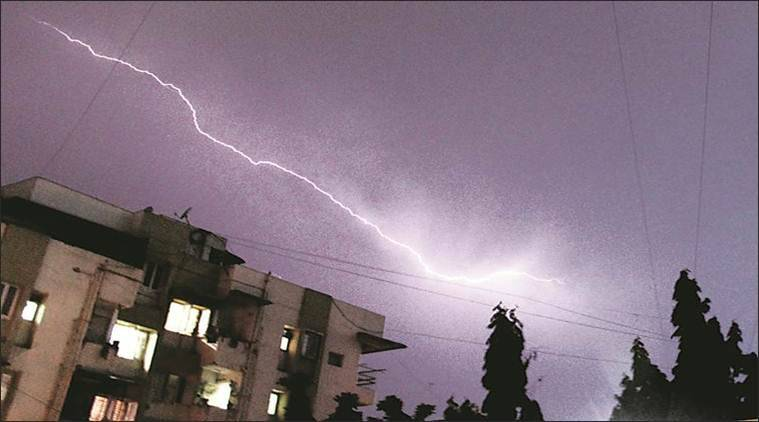 rain, ahmedabad, lighting, rainfall, government, centre, forecast, india, meteorological department, celsius, degrees, temperature, india news, indian express news