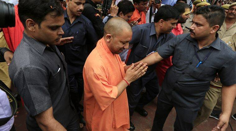 Yogi Adityanath Ayodhya visit, Adityanath offers prayers at ram temple, Yogi Adityanath, Ram Temple