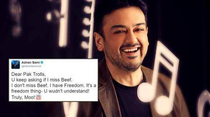 Adnan Sami 'moos' away Pakistani trolls with his blunt tweet on beef ban