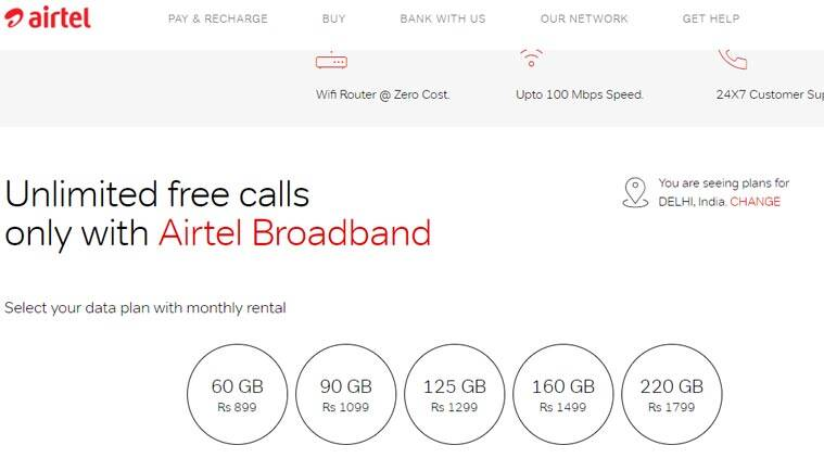 Airtel, Airtel V-Fiber Home broadband, Airtel new data plans, Airtel home broadband, Airtel broadband data, Airtel unlimited data, Airtel broadband offers, Airtel data broadband