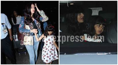 Aishwarya Rai Bachchan returns from Cannes but it is Aaradhya Bachchan who has our attention