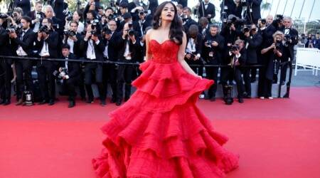 Cannes 2017: Aishwarya Rai Bachchan picks a red ruffled Ralph & Russo gown for her second appearance on the red carpet
