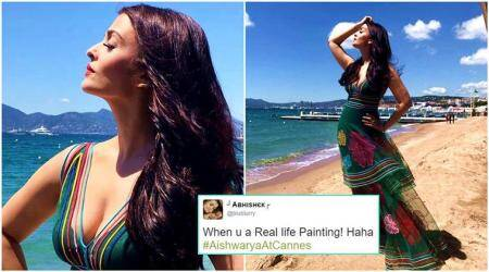 Aishwarya Rai Bachchan's first look at Cannes 2017 makes jaws drop on Twitter