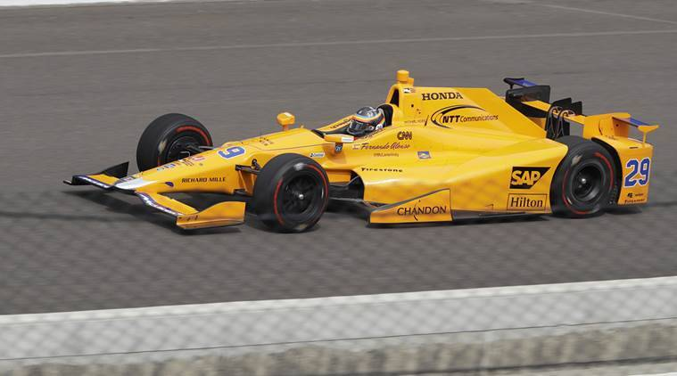 F1 star Fernando Alonso gets taste of Indianapolis oval