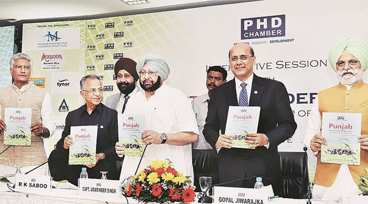 Amarinder Singh, Capt Amarinder Singh, punjab industrialists, amarinder meets industrialists, PHD Chamber of Commerce and Industry, PHDCCI, India news, indian express news