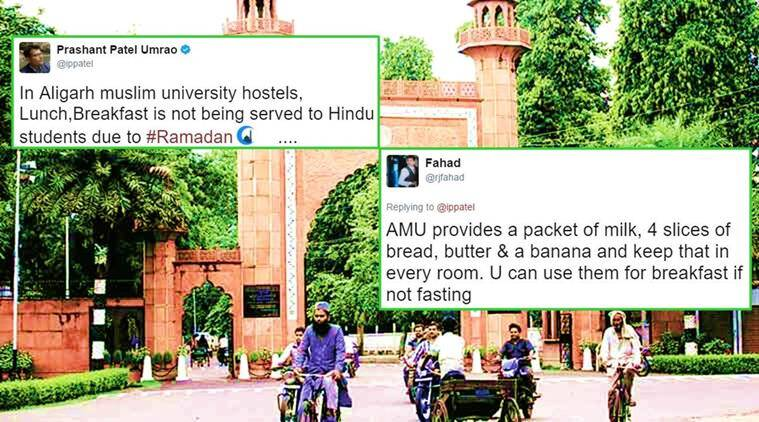 aligarh muslim university, ramadan, ramadan food, ramadan lunch breakfast, aligarh muslim university mess food, amu ramzan rules, twitter reactions amu food ramzan, facebook twitter amu ramzan lunch dinner, indian express, indian express news