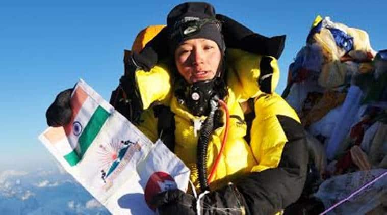 Anshu Jamsenpa, Arunachal Pradesh mountaineer, Mount Everest, Anshu Jamsenpa climbs Mount Everest, Arunachal Mount Everest, Indian Express, India news