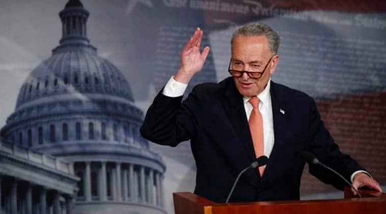 Chuck Schumer, US Senate Democrat, us massive layoffs, us coronavirus, world news, indian express