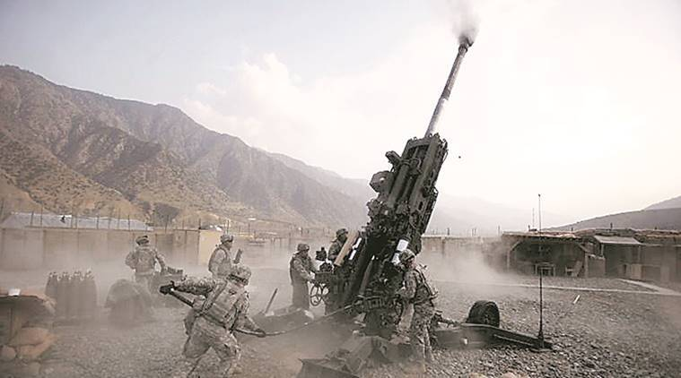 artillery guns, inian army, army artillery guns, pokhran testing, pokhran, pokhran artillery guns, ultra light howitzers, BAE Systems, indian express news, india news