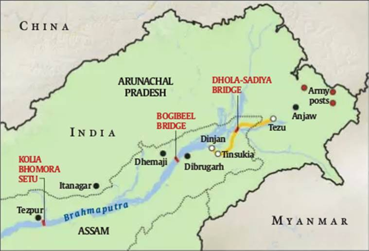 Image result for assam bridge map